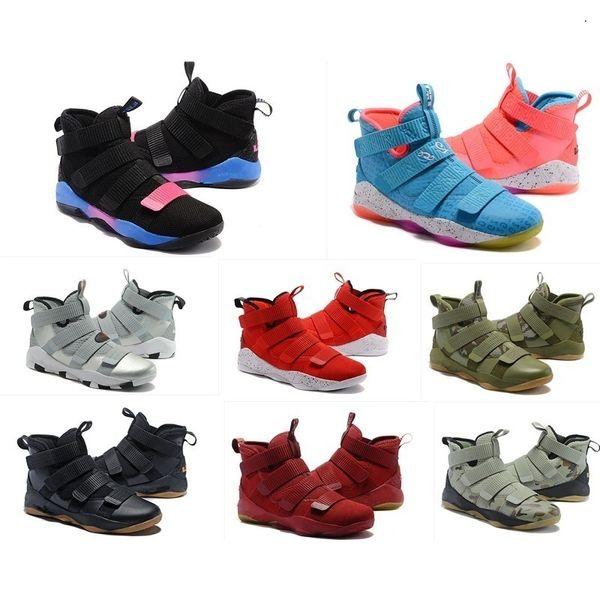 The What Lebron Soldier 11 Xi Zapatos Hombre Baloncesto En venta Lebrons Christmas Bhm Oreo Youth Niños Niños Zapatillas Botas con caja original