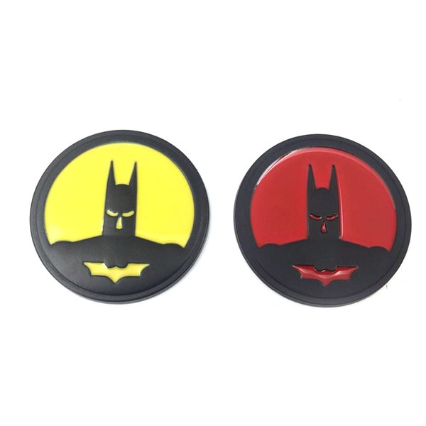 Gzhengtong 1 Pcs Umbrella 100% of all new 15*15 Size Round batman logo with metal body sticker