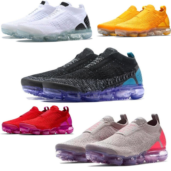 New 2019 designer Moc 2 Laceless 2.0 running Shoes Triple Sneakers Sports shoes 2019 Air cushion Trainers Zapatos Mens Trainers size 36-45