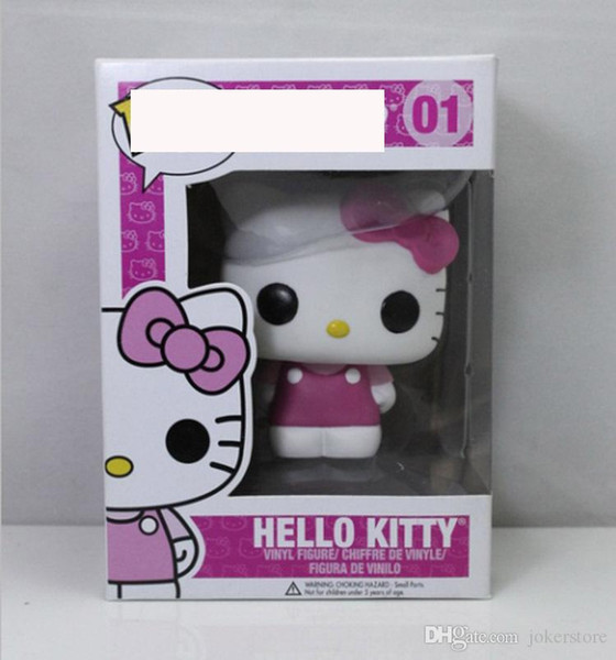 Funko Pop Hello Kitty 01# Q Vervison Anime Figure Collection Model Hot Toys Hot Sale New Arrvial Hot Sale Free Shipping