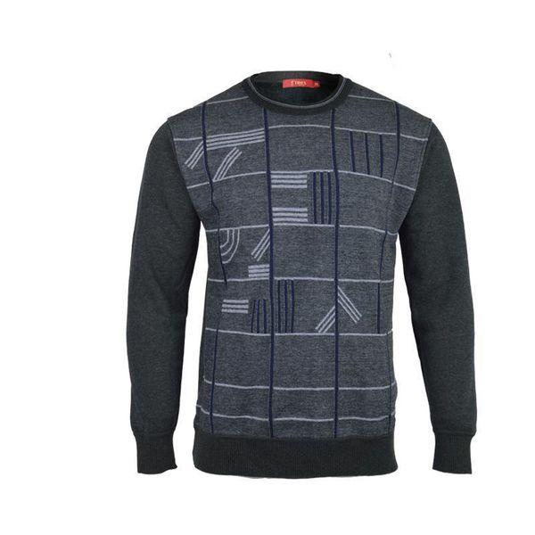 Großhandel Pullover Männer Pullover Männer Langarmhemd Herren Pelz Gefüttert Pullover Wolle Casual Oansatz Kleid Marke Cashmere Strickwaren Pull Von