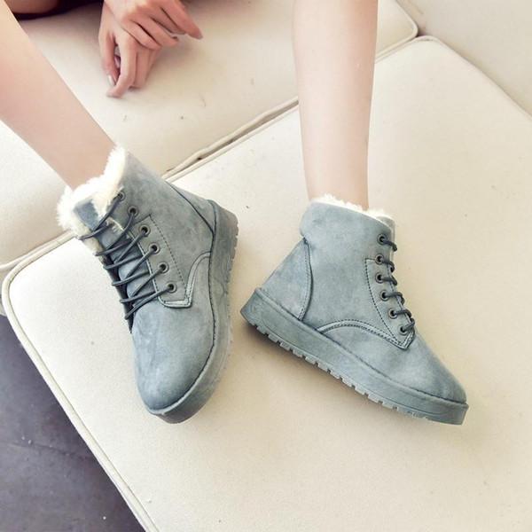 2019 Fashion designer automne et hiver nouvelles bottes martin des femmes des butins de coton, plus velours bottes chaudes de grande taille US6-8.5, EUR36-40 NM2