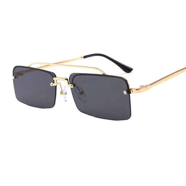 Vidano Optical Steampunk Retro Sonnenbrille für Männer und Frauen klassische quadratische Designer-Brille unisex rahmenlose Mode Sonnenbrille