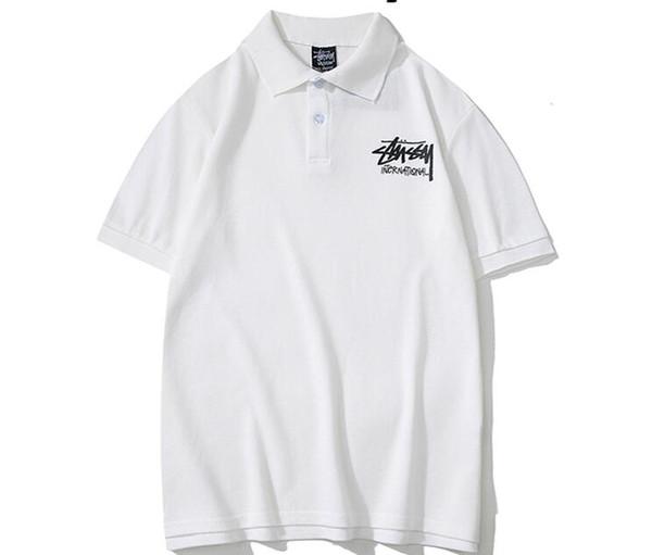 G21BH nouveau style Italie marque polo shirt stusay t chemises mens polos occasionnels mode bande imprimer polos en coton