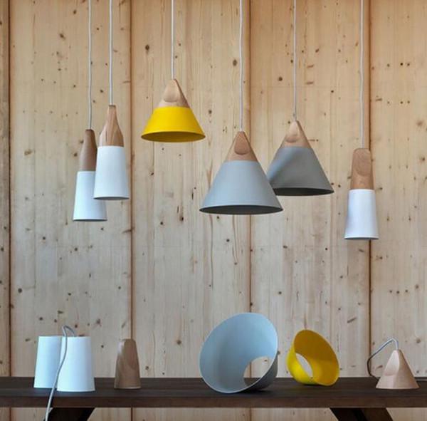 Großhandel Hang Lampe Pendelleuchte Skrivo Design Holz Und Aluminium Lampe  Bar Kaffee Für Wohnzimmer Schlafzimmer Küche Freies Verschiffen Von ...