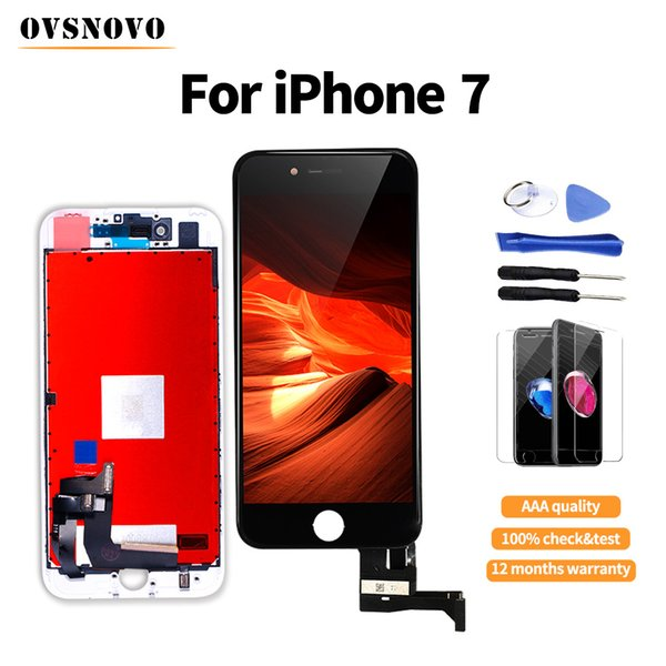 100% tested Ovsnovo LCD pantalla For iPhone 7 Screen Digitizer Display Assembly Replacement Parts+Tempered Glass&Tools None Spot