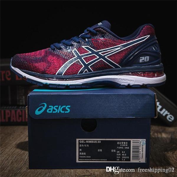 novos de alta qualidade homens de moda de luxo mulheres GEL NIMBUS 20 Tampão jogging sapatos respirável tênis esportivos com caixa 05
