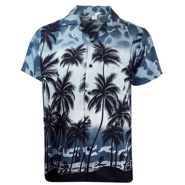 Herren Hawaiihemden Kurzarm Tropical Palm Shirts Herren Sommer camisa masculina Fancy Beach Herren Holiday Party Bekleidung