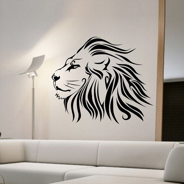 Lion Wall Sticker Fashionable Animals Home Decor Removable Living Room Wall  Decals Bedroom Decoration Wall Decal Quotes Wall Decal Sale From ...