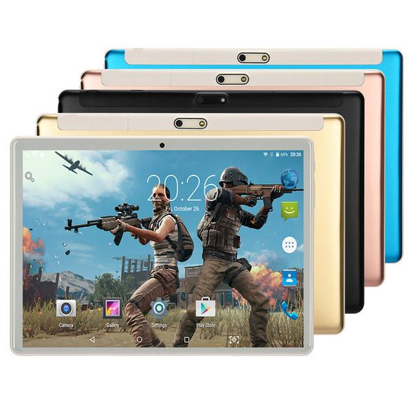 Tablette 10 pouces 4 Go de RAM 32 Go Disque Android 7.0 Nougat Nouveau 2018 Modèle WiFi Bluetooth IPS Écran Octa Core 2 + 5 MP Appareil Photo Ordinateur PC
