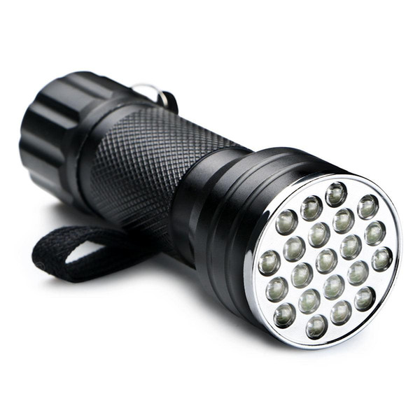 Mini portatile UV Ultra Viola Viola 21 LED Flashlight Blacklight High Brightes Torch Light Light 395nm