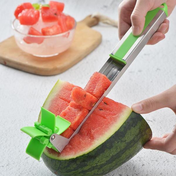 Karpuz Dilimleme Kesici Fırıldak Şekli Plastik Dilimleme Kesme Karpuz Dilimleme Aracı Meyve Sebze Araçları için LX7437