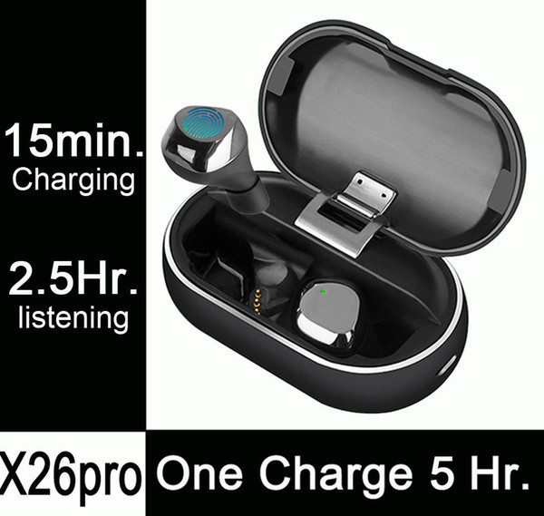 X26pro, 5 5 Hours Listening On One Charge,Fast Charging, Mini Wireless  Bluetooth Headphones Earphones Earbuds PK Airpods I10 I12 I7 Tws Wireless