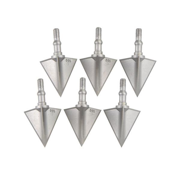 6 pcs Archhead Broadheads Caça Pontas de Alumínio Arrowheads Besta 3 Lâmina 100 Grain X3 Cabeças de Seta Ao Ar Livre caça acessórios