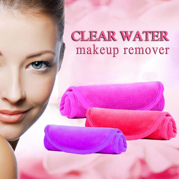 Microfibre réutilisable femmes visage tissu magique visage serviette démaquillant pour beauté démaquillant serviette nettoyage lavage serviette