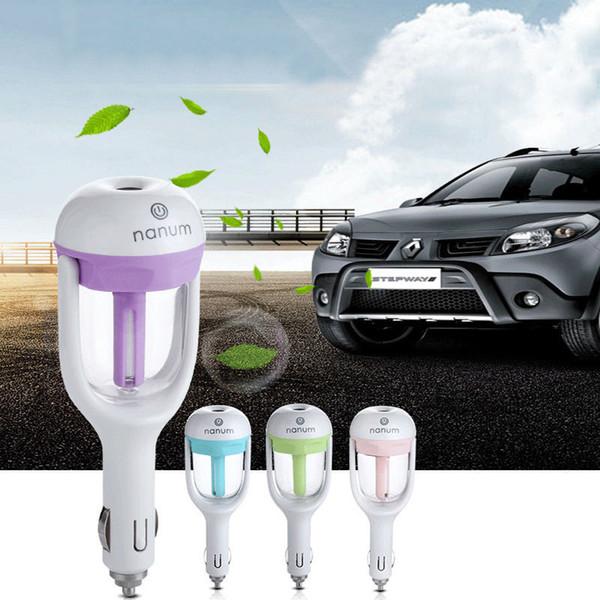 Épurateur d'humidificateur d'air de prise de voiture de Nanum, humidificateur ultrasonique d'huile essentielle de véhicule véhiculant le parfum de voiture de parfum de diffuseur 12V