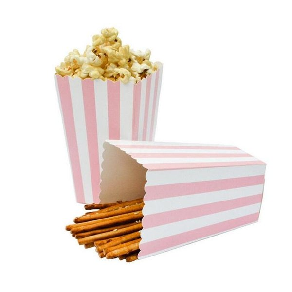1200pcs Cinema Treat Party Favor Mini Popcorn Boxes Bags Happy Birthday Party Supply Foil Gold Silver Candy Gift Popcorn Boxes 20180920#
