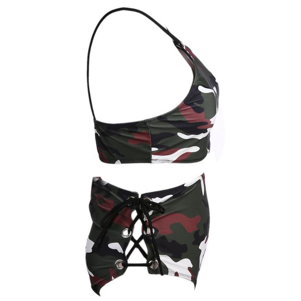 2017 Women Camouflage Bikini Set Swimsuit Beachwear Push Up Swimwear