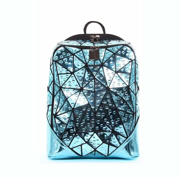Men Geometric Sequin Laser Backpack Female Laptop Backpack Book Bag School Casual Rucksack Travel Daypack Women Pink Backpack