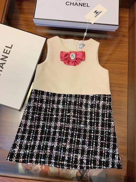 Celebutante 2019 Crianças Roupas Meninas Moda Tarja Vestido Desgaste de Verão Em Renda Princesa Saia Roupas Infantis Vestidos 0818