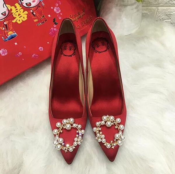 Fashion Trend Women Dress Shoes Luxury Shining rhinestone Pumps Elegant bridal shoes wedding party shoes high-heeled Office shoe n10