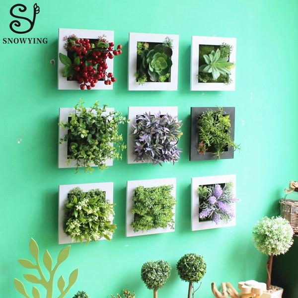 Artificielle Plante Succulente Mur Art Décor En Plastique Faux Plantes Fleur pour Hôtel Home Garden Wall Decor