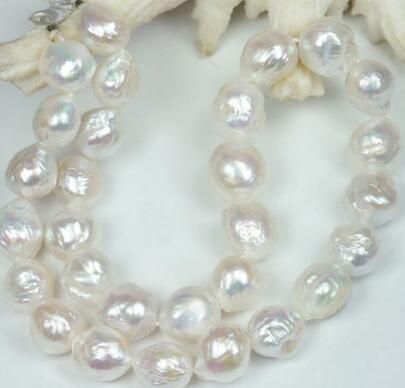HUGE NATURAL 11-12MM Australian south seas kasumi white pearl necklace 925silver