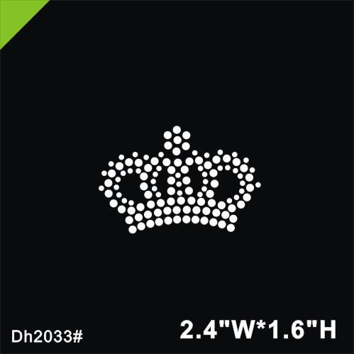 Free shipping Mini crown iron on crystal transfer motif hot fix rhinestone motif hotfix stone design iron on for shirt, shoes ba DIY DH2033#