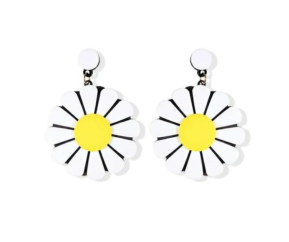 2019 Hot Sale Sunflower Earrings New Fashion Trendy Atmosphere Korean Earrings Web Celebrity Earrings Sterling Silver.