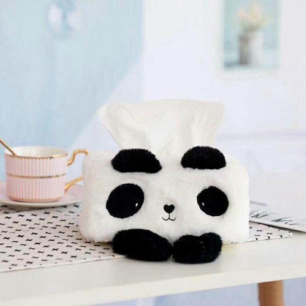 Plush Tissue Boxes Container Soft Cartoon Facial Napkin Tissue Holder Paper Dispenser Storage servilletero For Home