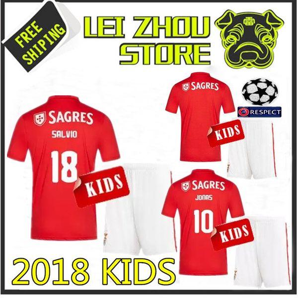 100% authentic aab8c c5205 2018 Benfica Kids 2018 2019 Benfica Home Kids 10 JONAS Soccer Jerseys 18 19  Benfica Red Boy Kit ZIVKOVIC SALVIO PIZZI Child Soccer Jersey From ...