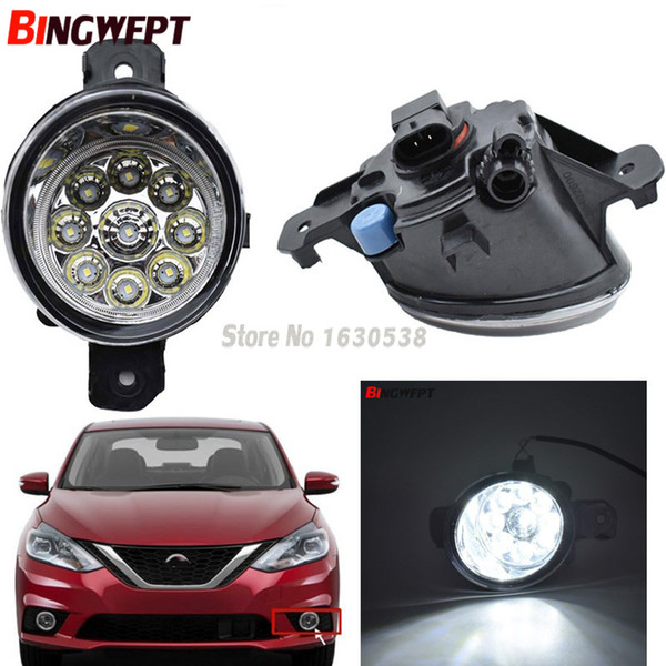 1Pair led fog Lights Car front bumper fog lamps LED headlight For NISSAN QASHQAI for Altima Rogue Sentra Pulsar Sylphy