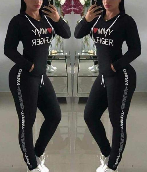 Hot Sale spring style sweat shirt Print tracksuit women Long Pants Pullover Tops Womens set Women Sport Suits