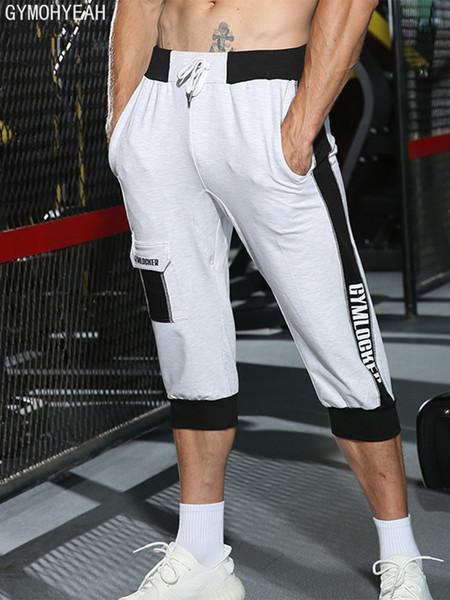 Gymohyeah Hommes Loisirs Hommes Genou Longueur Shorts Couleur Patchwork Joggeurs Court Pantalon De Survêtement Pantalon Hommes Harem Court Bermudas SH19062701