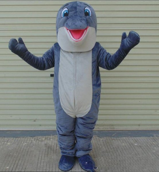 2019 High quality Good vision grey dolphin mascot costume for adult to wear for sale