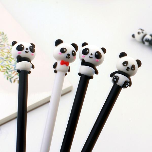 36 pcs/lot Panda Gel Pen for writing kawaii 0.5 mm black ink Neutral Pen School Office Supplies Promotional Gift