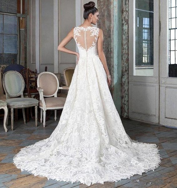 Sexy White Backless Beach Lace Mermaid Wedding Dresses Bohemian Spaghetti Sweep Train Sexy Cheap Bridal Gowns