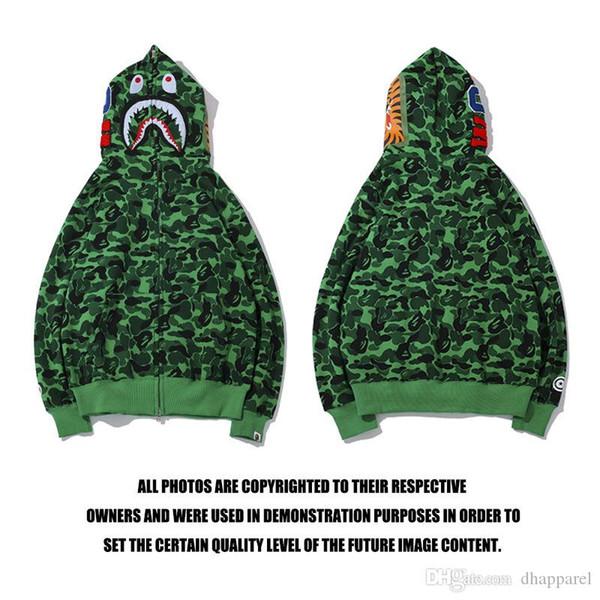 Winter Fashion Brand Lover Green Camo Streetwear Sport Sweater Hoodies Men Women Casual Hooded Cardigan Zipper Sweater