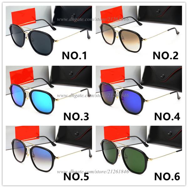 Summer Hot Sale Round Frame Brand Design Sunglasses Women Men Dazzle Colour Glasses UV Protection Sun Glasses