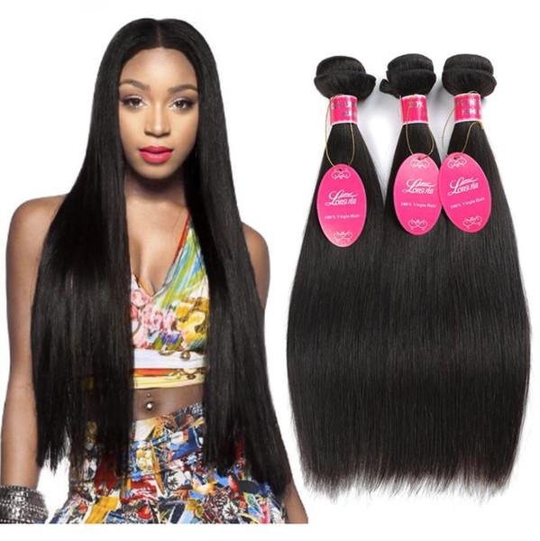 İnsan Saç Yığınlar Perulu düz dalga İnsan saç virgin saç siyah kadınlar için doğal siyah FZP220