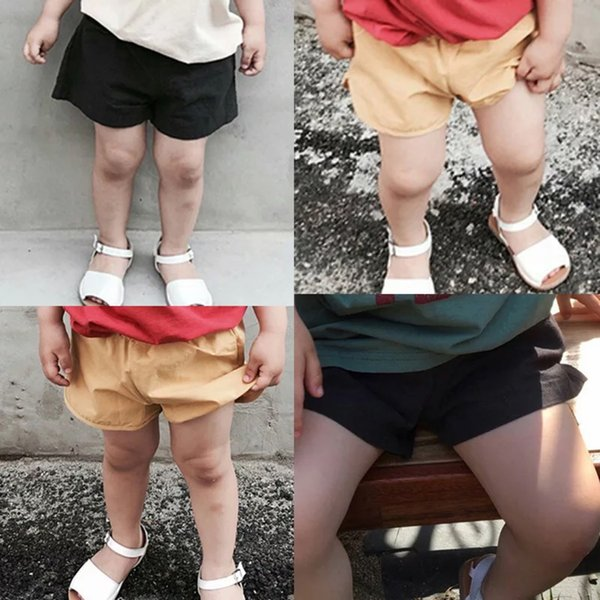 INS Solid Boys Shorts children PP Pants Cotton Pocket PP Trousers Diaper Cover Bloomer For Kids Boys 1-6T