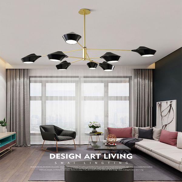 Nordic filial lustre de ferro Abajur Lustre ajustável Pingentes de suspensão Cozinha Partidas Iluminação interna