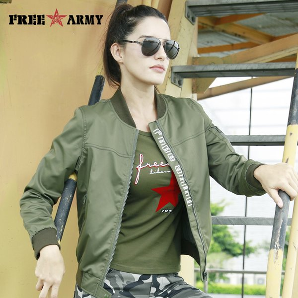 FreeArmy Fashion Casual Women Jacket Coat Light Weight Women's Jackets Camouflage Ladies Clothing Style Jacket Bomber 2018 Fall Y190919