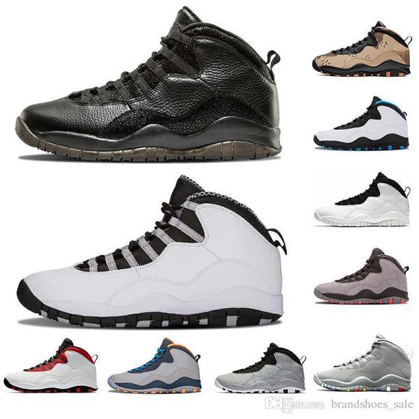 Günstige 10s Basketballschuhe Zement Klasse von 2006 Westbrook Cool Grey Ich bin zurück Desert-Camo Herren Trainer 10s 10 Sport Sneake