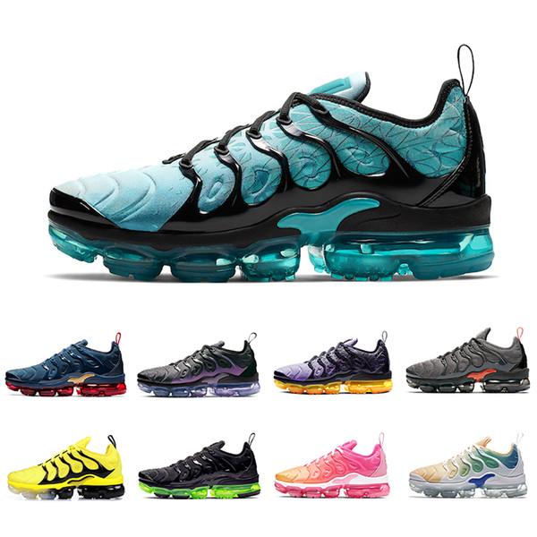 Nike Air Vapormax Plus Tn shoes Ucuz Yastık TN Artı Koşu Ayakkabıları Hiper Mavi Kadın Erkek Siyah Altın Kurt Gri Firecracke Zebra Eğitmenler Spor Sneakers