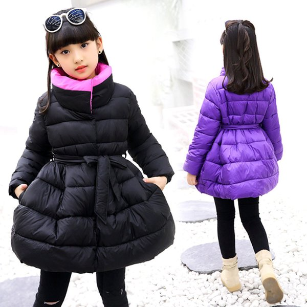 2019 Fashion Hot Girls Hooded Fur Coat Woolen Zipper Jacket Pink Autumn Fall Winter 4 5 6 7 8 9 10t Years Old Wholesale Clothing