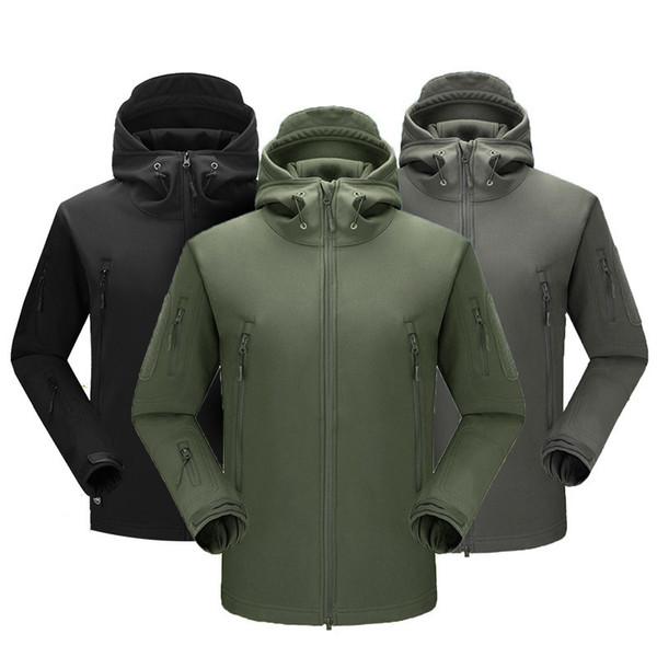 Nouvellement hommes imperméable coupe-vent manteau coupe-vent en polaire Softshell avec capuche pour l'extérieur VK-ING