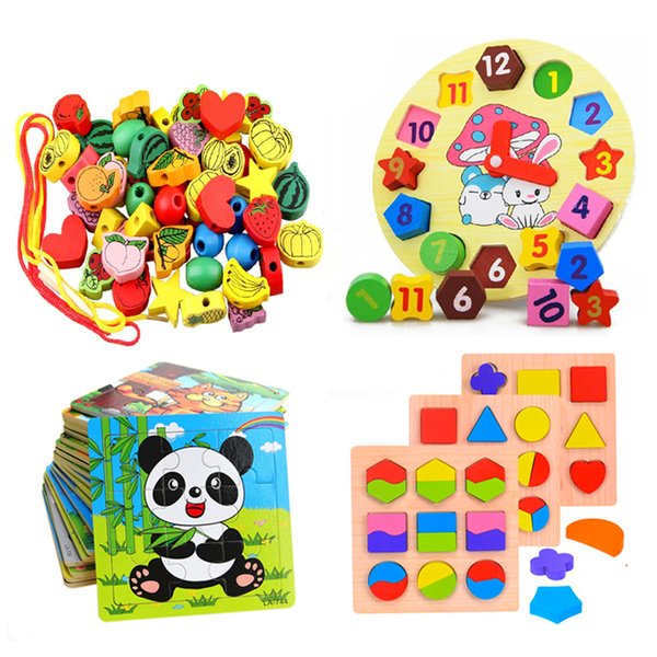 best selling Baby Kids Childrens Education Wooden Puzzle Toys Wooden Geometric Puzzle toy For Kids Montessori Early Learning Toy GYH