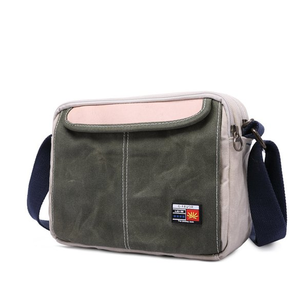 Waxed Canvas Casual Waterproof Men's Shoulder Crossbody Bag Messenger Tote Bags Satchel Travel Bookbag Luxury Bag