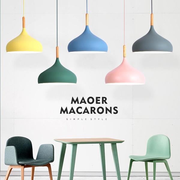 Lampadario in alluminio ristorante lampada creativa personalità asilo illuminazione decorativa Nordic Macaron singolo lampadario-Le3